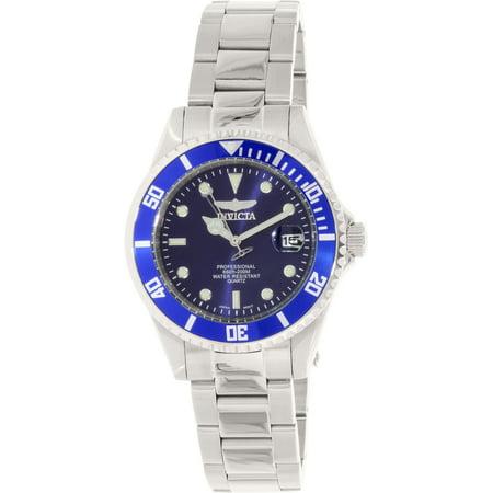 9204OB Men's Pro Diver Blue Dial Steel Bracelet Dive Watch Deep Diver Silver Dial