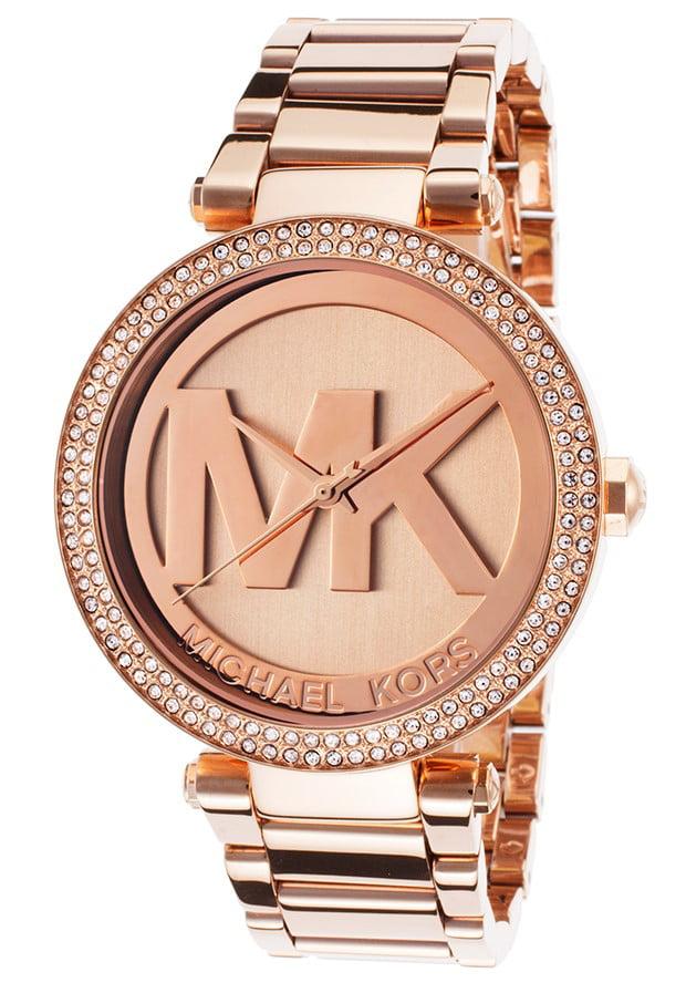 Michael Kors Michael Kors Women's Parker Rose Gold Tone Logo Watch MK5865