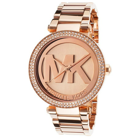 Army Logo Watch - Michael Kors Women's Parker Rose Gold-Tone Logo Watch MK5865