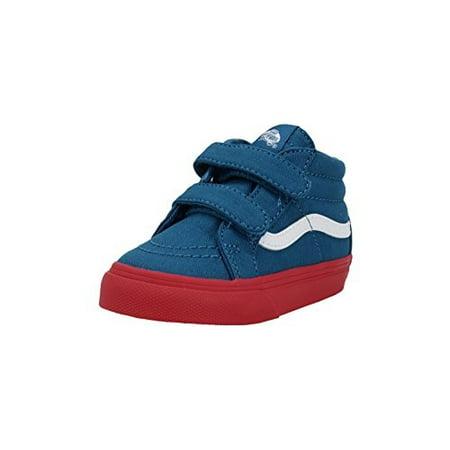 8790a15539 vans - vans sk8 mid reissue v cosplay blue red infant toddler shoes  boys girls (4.0) - Walmart.com