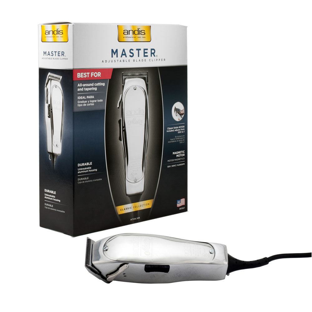 Andis Improved Master Hair Clipper Professional Salon Barber Shop , SILVER, 01557