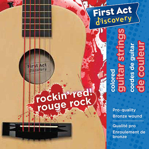 First Act Discovery Guitar Strings - Rockin' Red