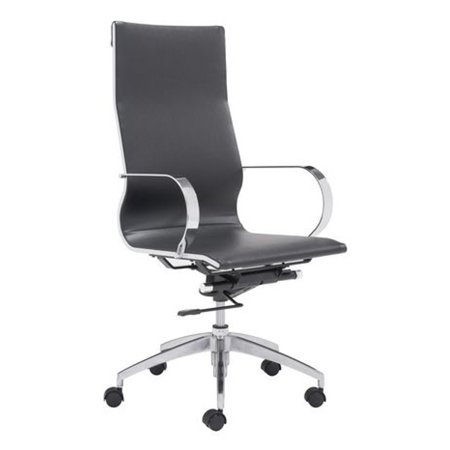 Fine Mod Imports Modern Office Conference Room Chair High Back, Black ()