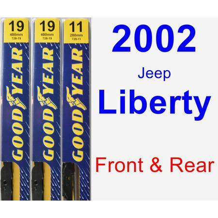 2002 Jeep Liberty Wiper Blade Set/Kit (Front & Rear) (3 Blades) - Premium