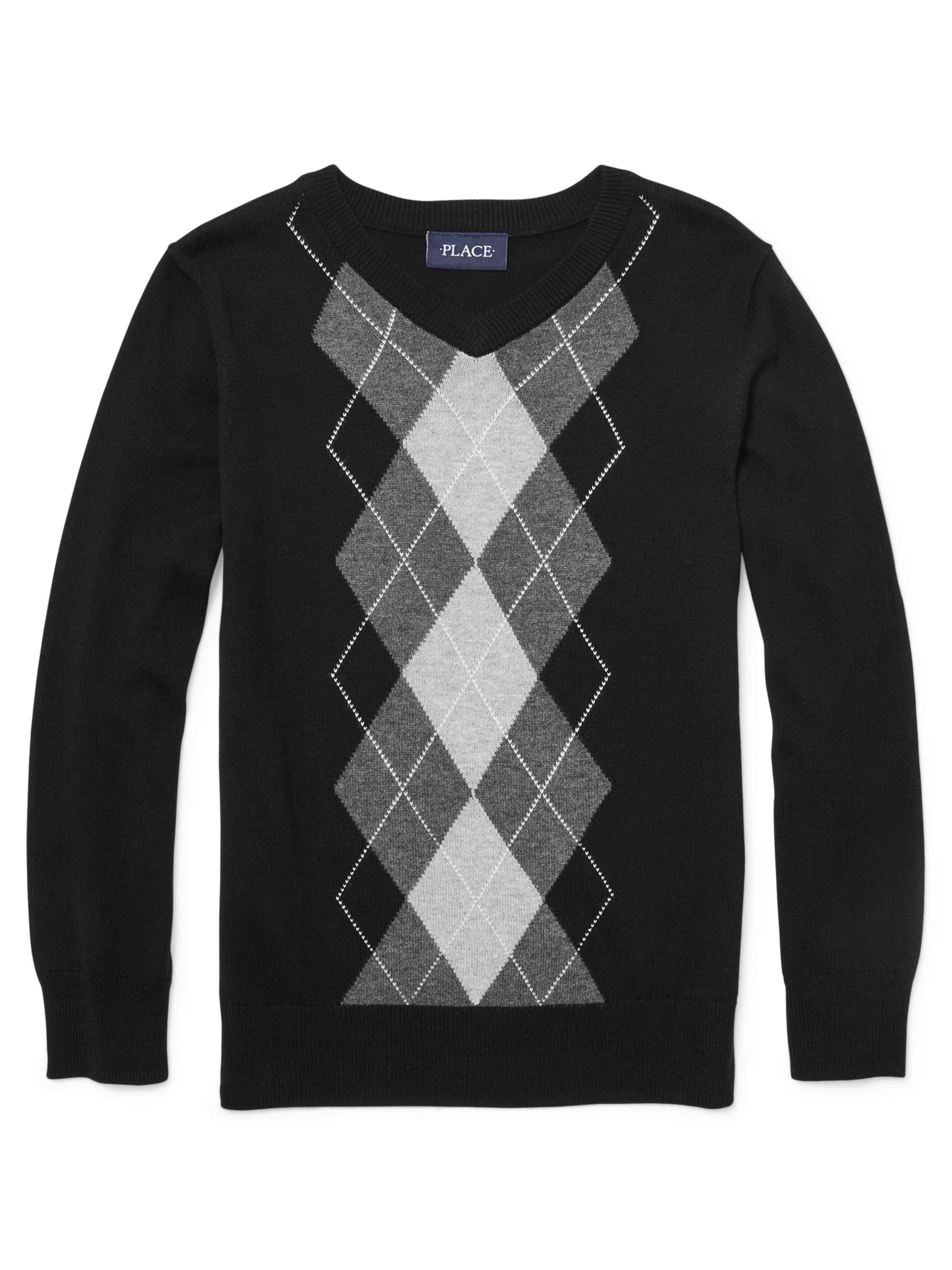 Pull Over Argyle Sweater (Little Boy & Big Boy)