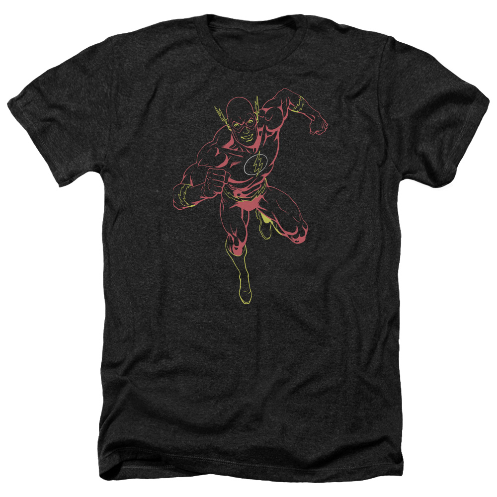 Jla Neon Flash Mens Heather Shirt