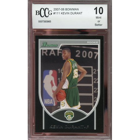 2007 08 Bowman  111 Kevin Durant Golden State Warriors Rookie Card Bgs Bccg 10