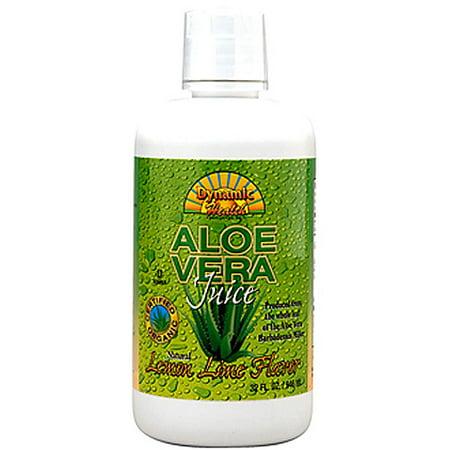 Dynamic Health Lemon-Lime Flavor Aloe Vera Juice, 32 oz