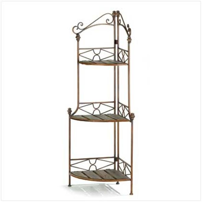 Sunrise Wholesale 12517 Rustic Corner Baker's Rack