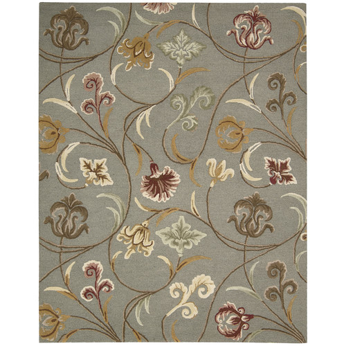 Nourison In Bloom Smoke Area Rug
