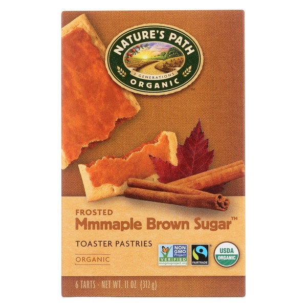 Nature's Path Organic Frosted Toaster Pastries - Mmmaple Brown Sugar - pack of 12 - 11 Oz.