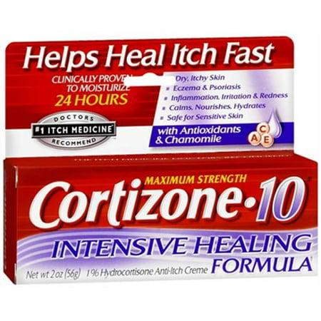 Cortizone-10 Crème Formule Intensive Healing 2 oz (Pack de 6)