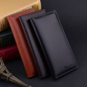 Business Mens Leather Wallets Bifold Long Clutch Credit Card Coin Holder Purse