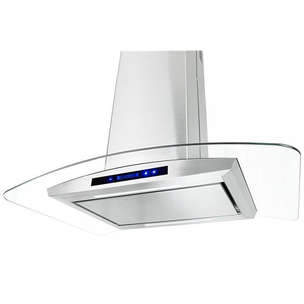 Firebird 30 European Style Wall Mount Stainless Steel Ductless Range Hood Vent W// Touch Panel Control Free Carbon Filters