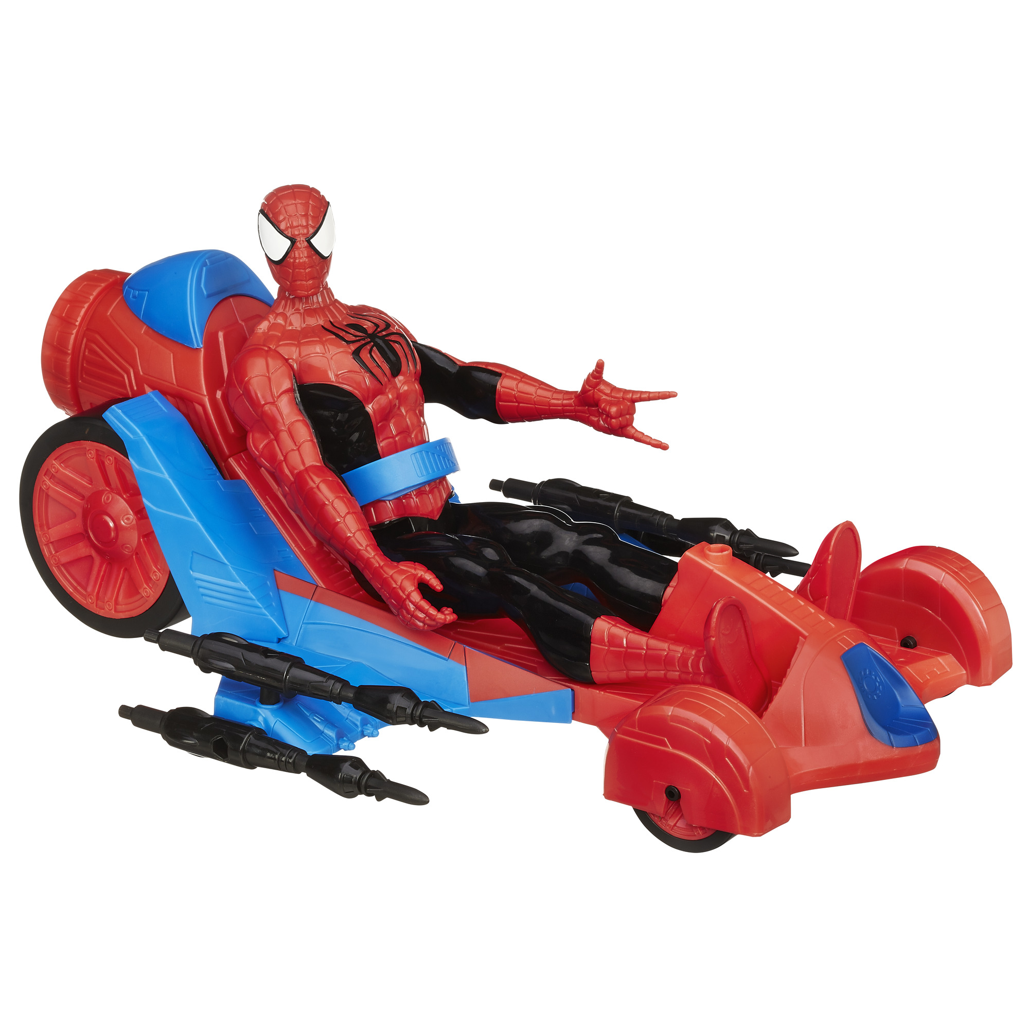 Marvel Ultimate Spider-Man Titan Hero Series Spider-Man Figure with Turbo Racer Vehicle by Hasbro