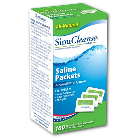SinuCleanse Saline Refill Packets - 100 ct