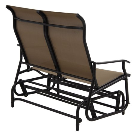 2 Person Patio Glider Rocking Bench Loveseat Armchair