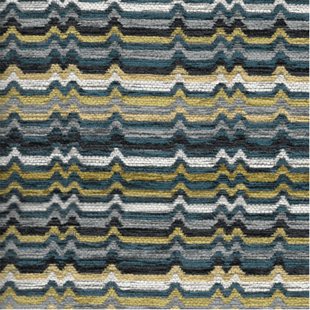 Designer Multicolor Tidal Zaney Stripe Home Decorating Fabric, Fabric By the Yard