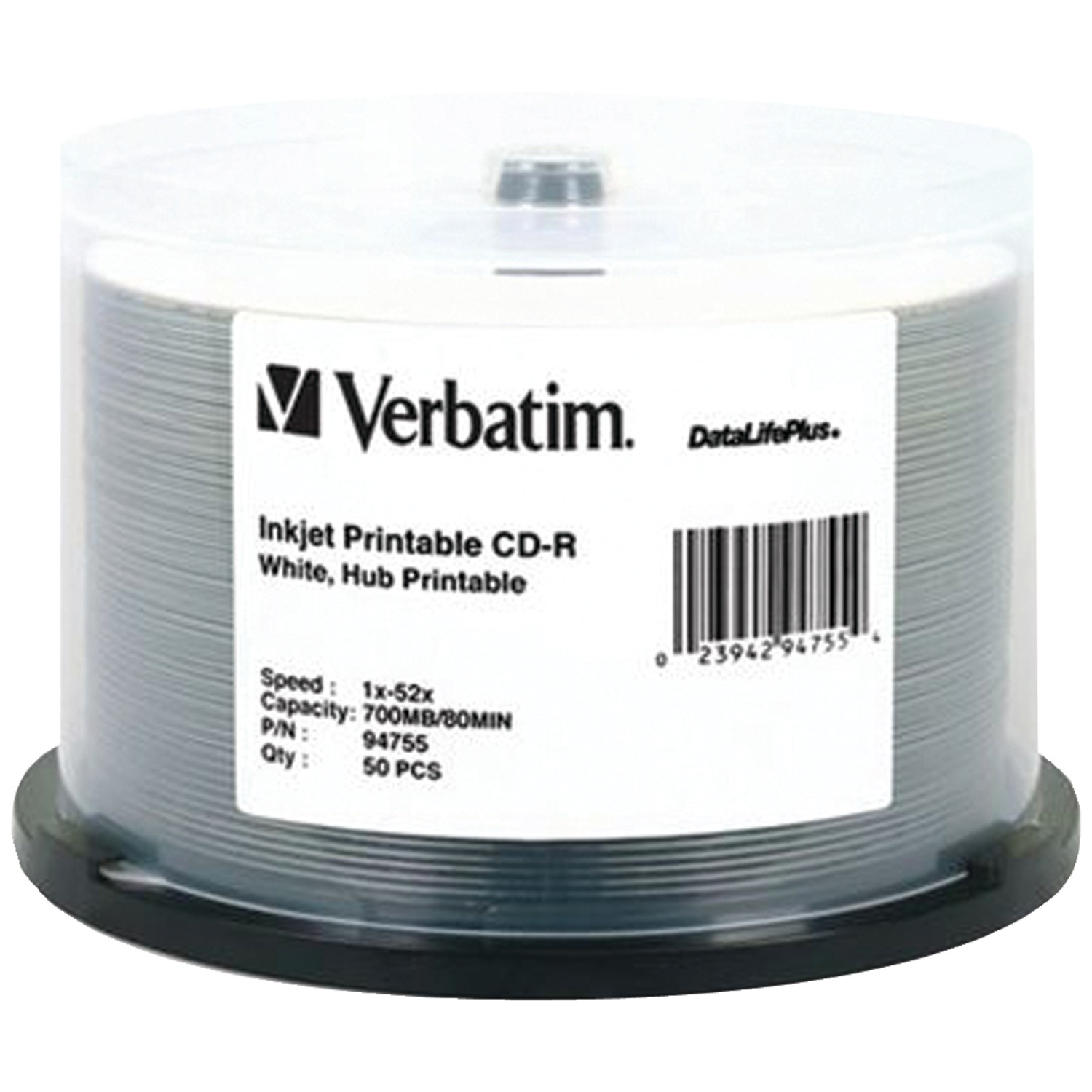 Verbatim 94755 700mb 80-minute 52x Datalifeplus Cd-rs, 50-ct Spindle