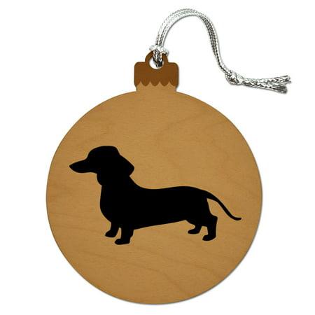 - Dachshund Wiener Dog Wood Christmas Tree Holiday Ornament