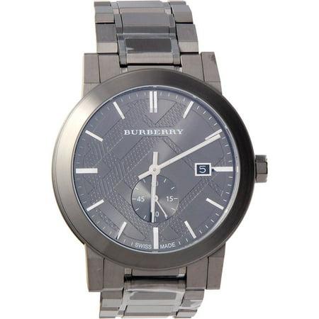 Swiss Quartz - Burberry Mens City BU9902 Grey Stainless-Steel Swiss Quartz Watch with Grey Dial