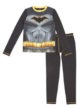 Batman Poly Spandex Top and Pant Thermal Underwear Set, (Little Boys & Big Boys)