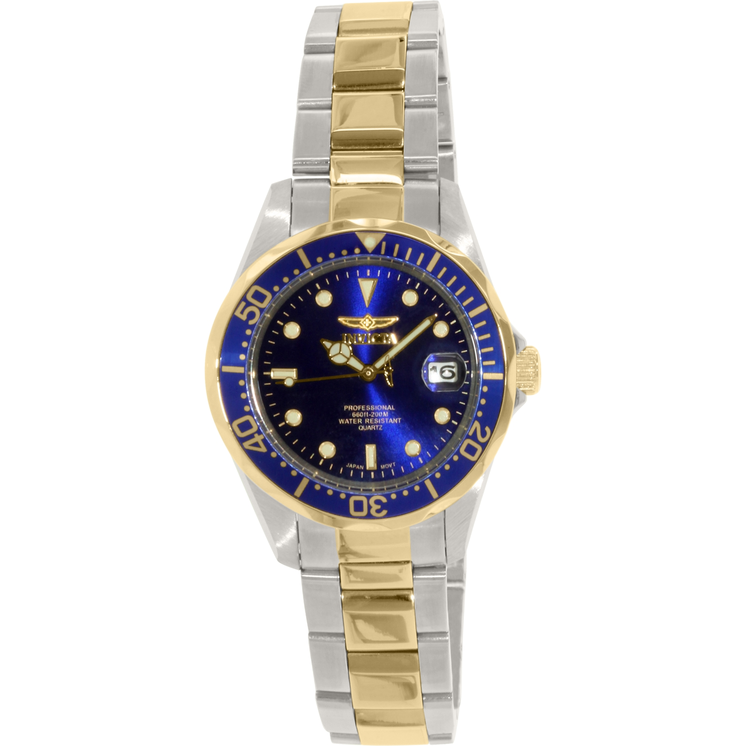Invicta Men's Pro Diver GQ 8935 Multi Stainless-Steel Plated Japanese Quartz Fashion Watch