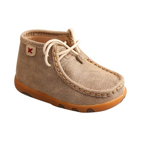TWISTED X Infant Driving Moccasins, Color: Dusty Tan, Size: 8, Width: M (ICA0005-8-M0
