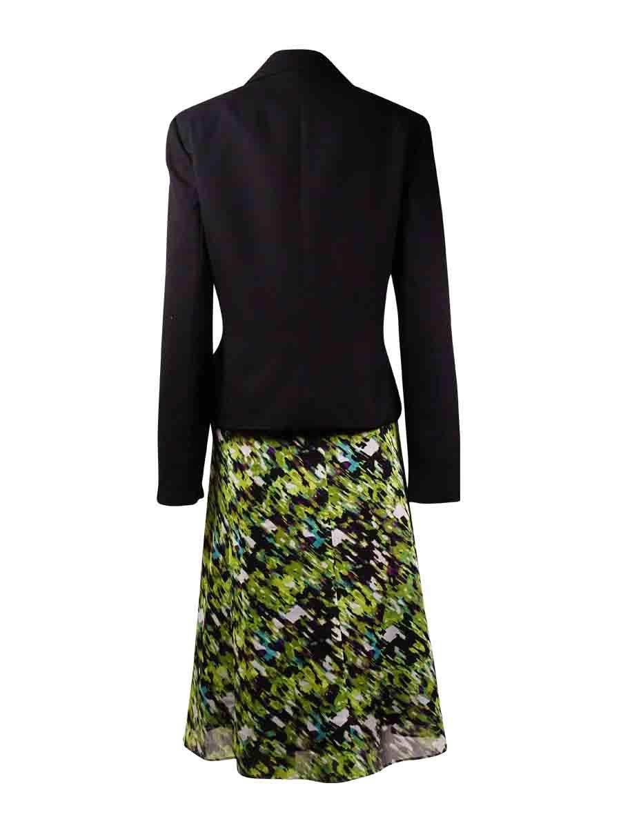 ff9d00da753cb Le Suit NEW Black Women Size 6 Three-Button Abstract Printed Skirt Suit Set  - Walmart.com