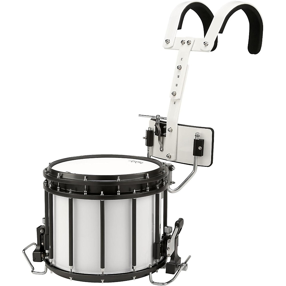 Sound Percussion Labs High-Tension Marching Snare Drum with Carrier 14 x 12 White