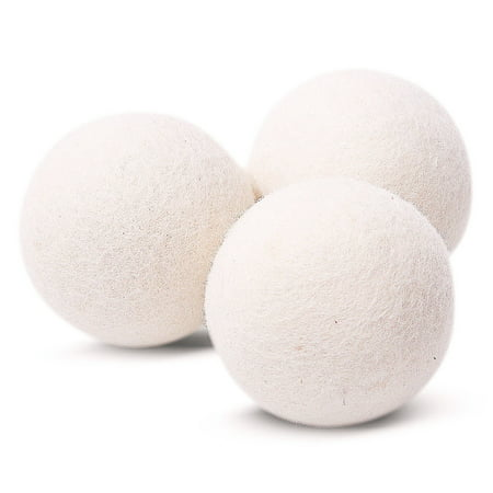 EcoJeannie® 3 pack Wool Dryer Balls - Premium XL Organic Eco-Friendly Unscented Non-Toxic Felt Laundry Balls Fabric Softener - Handmade in Nepal with 100% Natural New Zealand Premium Wool