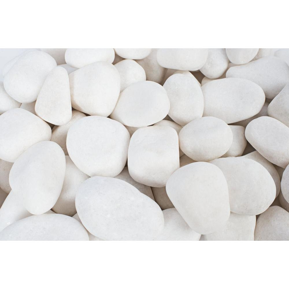 0.4 cu. ft. 0.5 in. to 1 in. Snow White Pebble (32-Pack Pallet)