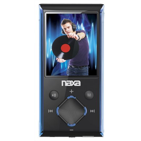 Naxa Portable 8Gb Media Player With 1 8   Lcd Screen  Blue