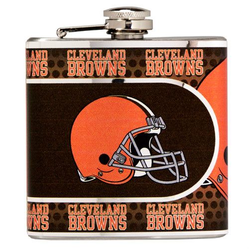 Great American Products Cleveland Browns Flask Stainless Steel 6 oz. Flask
