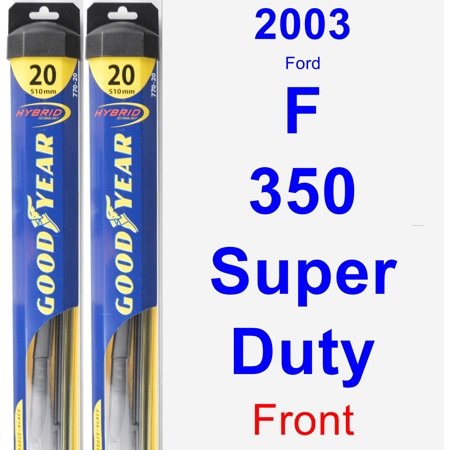2003 Ford F-350 Super Duty Wiper Blade Set/Kit (Front) (2 Blades) - Hybrid Duty Airlaid 1/4 Fold Wipers