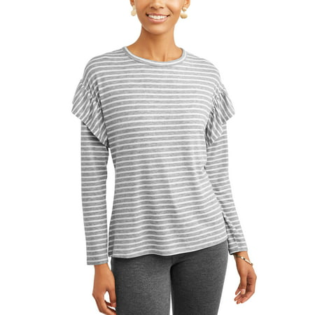 Women's Long Sleeve Ruffle T-Shirt - Express Suits Womens