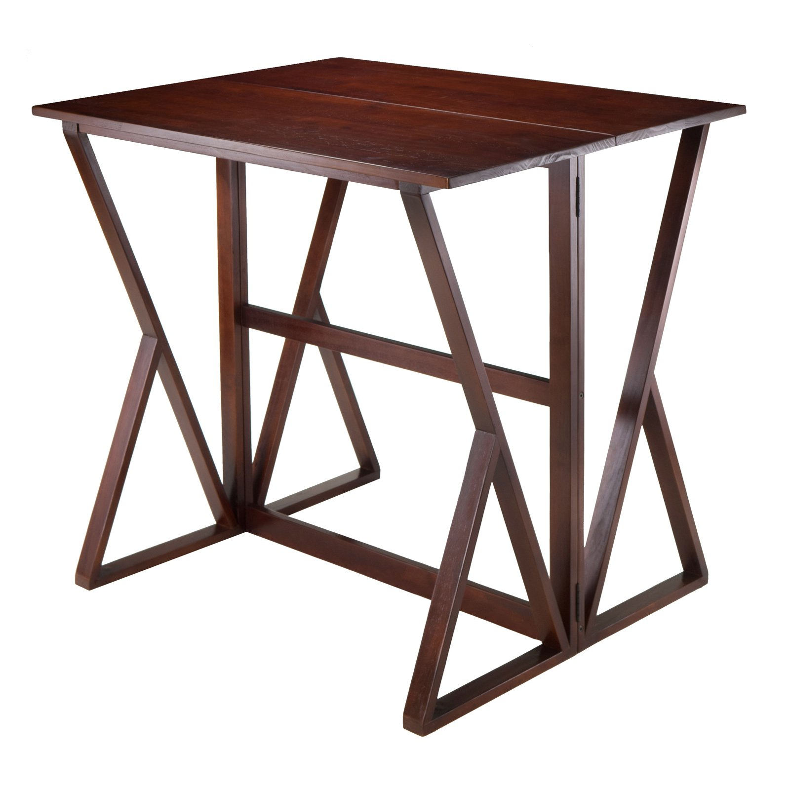 Harrington Drop Leaf High Table, Walnut   Walmart.com