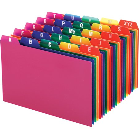 Oxford, OXF73154, A-Z Poly Filing Index Cards, 25 / Set Poly File Guides