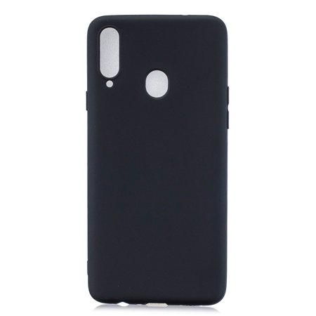 For Samsung A10S A20S Shockproof TPU Back Cover Soft Candy Color Frosted Surface Mobile Phone Case Color:black Style:Samsung A20S - image 1 of 8