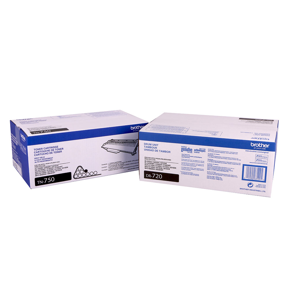 Brother TN750 Toner and DR720 Drum by Brother