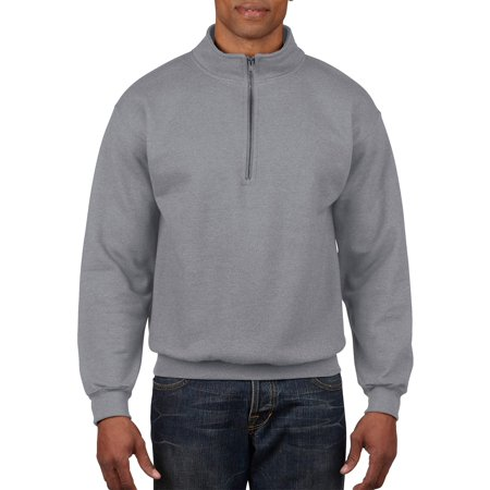 Colombo Zip - Gildan Men's 1/4 Zip Cadet Collar Sweatshirt