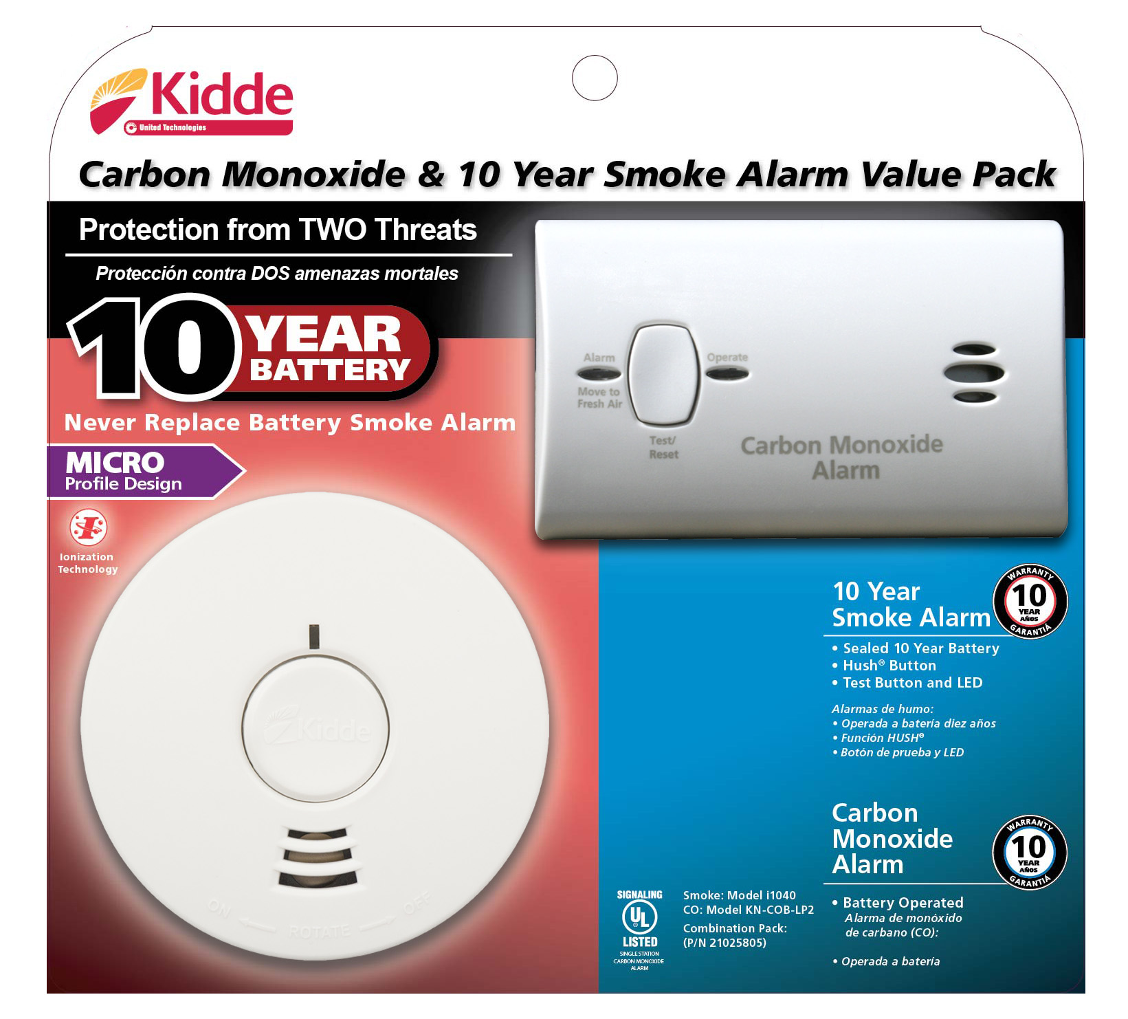 Kidde Smoke/co Value Pack