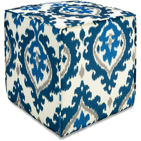 Better Homes And Gardens Pouf Ottoman Ikat Medallion