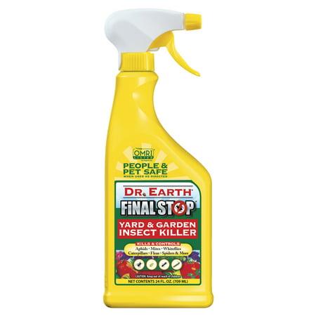 Dr. Earth Organic & Natural Final Stop Yard & Garden Insect Killer, 24 oz RTU Organic Insect Killer