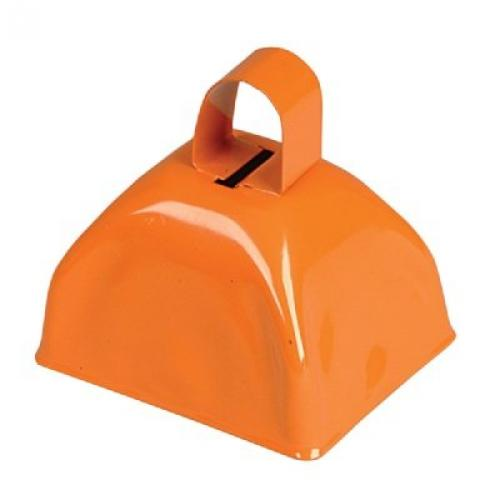 3-inch Orange Metal Cow Bell (Bulk Pack of 12 Bells) by CowBells