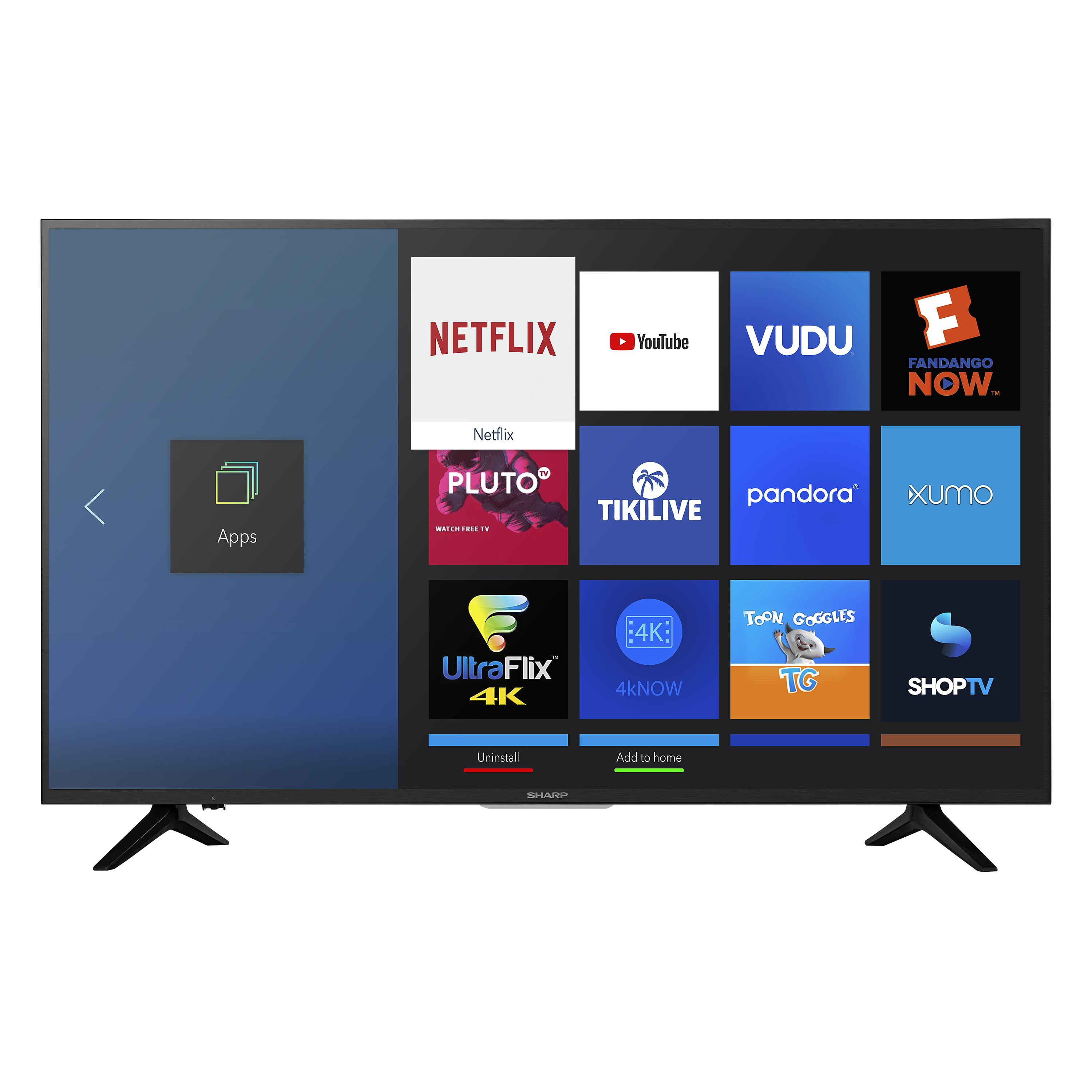 "Sharp 55"" Class 4K Ultra HD (2160P) HDR Smart LED TV (LC-55Q7030U)"