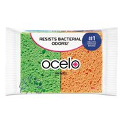 4PC Ocelo O-Cel-O Sponge w/3M Stayfresh Technology, 4 7/10 x 3 x 3/5, 4/Pack