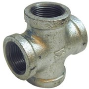 Pannext Fittings G-CRS07 Galvanized Cross - 0.75 in.