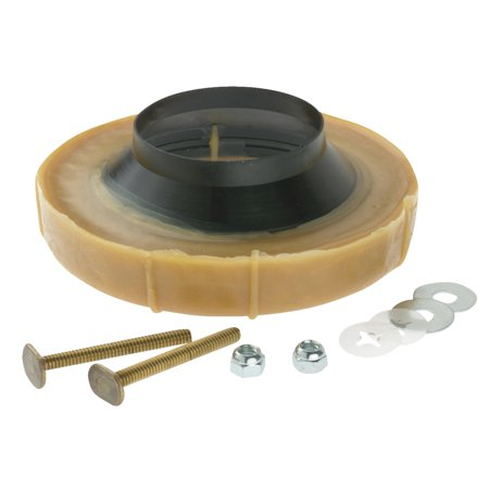 no seep no 1 flanged wax ring bowl gasket with bolts. Black Bedroom Furniture Sets. Home Design Ideas