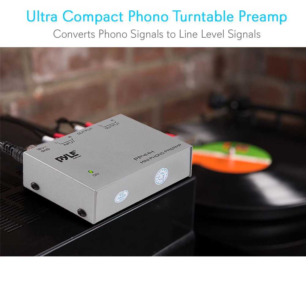 PYLE-PRO PP444 Ultra Compact Phono Turntable Preamp Free Shipping New